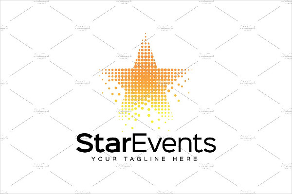 Star Events Logo Template