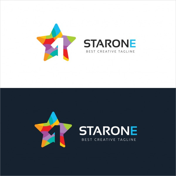 Star One Logo Template Free Vector