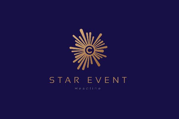 Star Event Company Logo Template