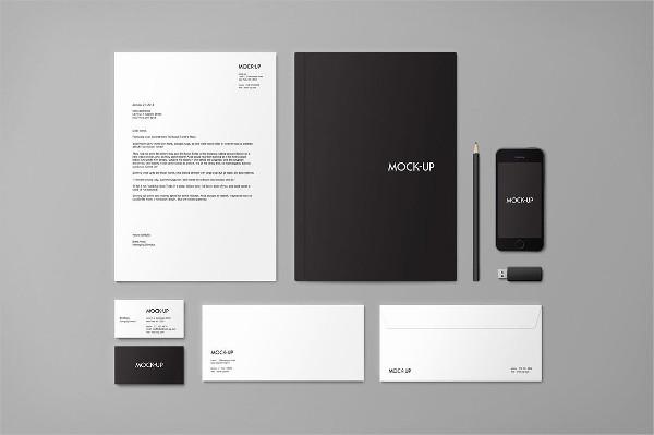 Stationery & Branding Mock-up PSD Templates