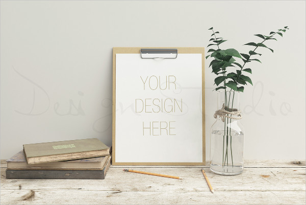 Stationery Display Mockup Template