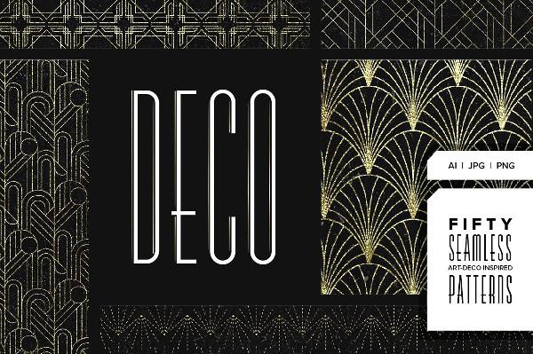 Stylish Art Deco Pattern Collection