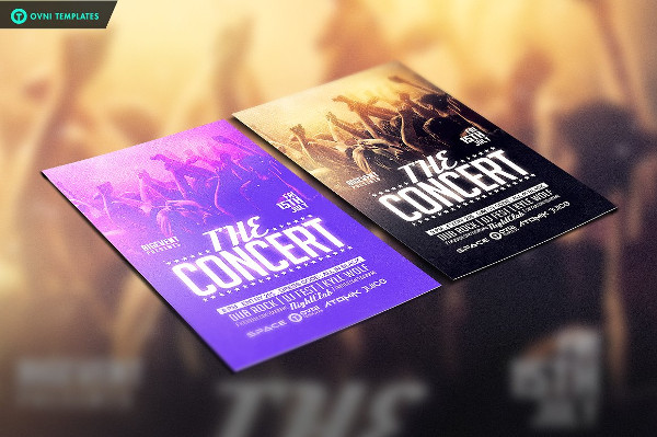 Stylish Concert Band Flyer Template
