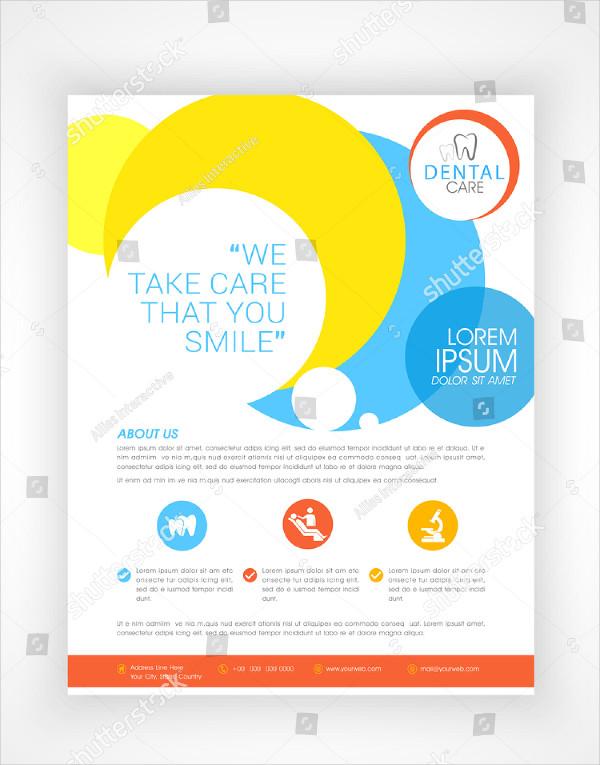 Stylish Dental Care Flyer Design