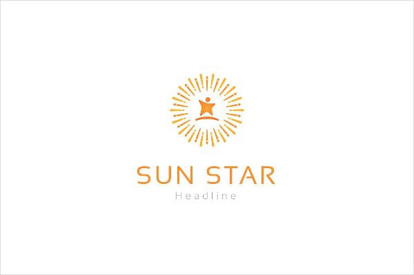 Stylish Sun Star Logo Design