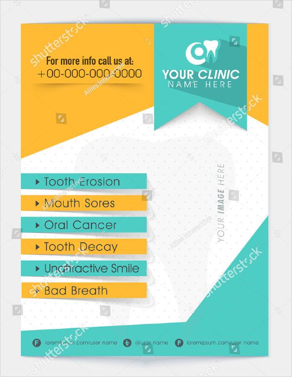 Stylish Flyer Template for Dental Hospital