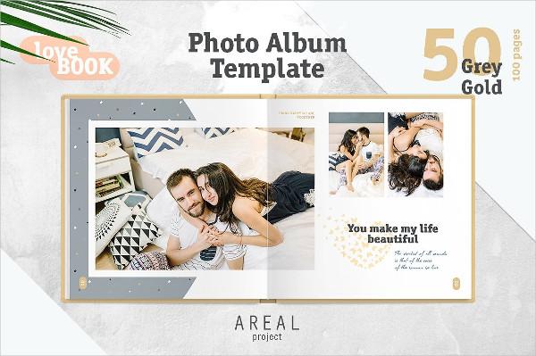 Summer Travel Family Photo Album Template