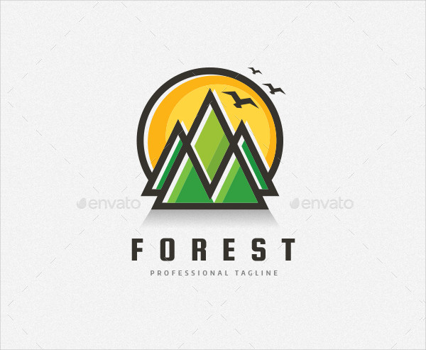 Sun & Mountain Logo Template