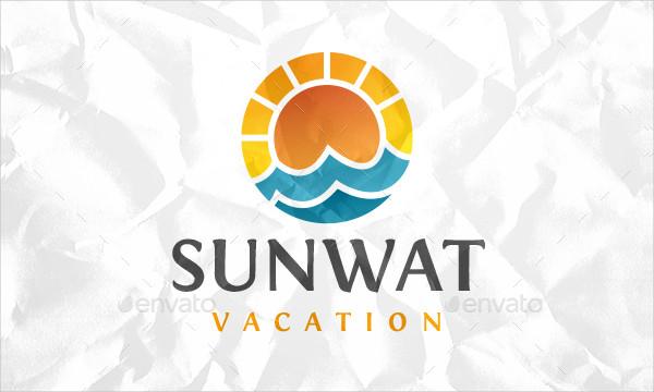 Sun Vacation Logo Template
