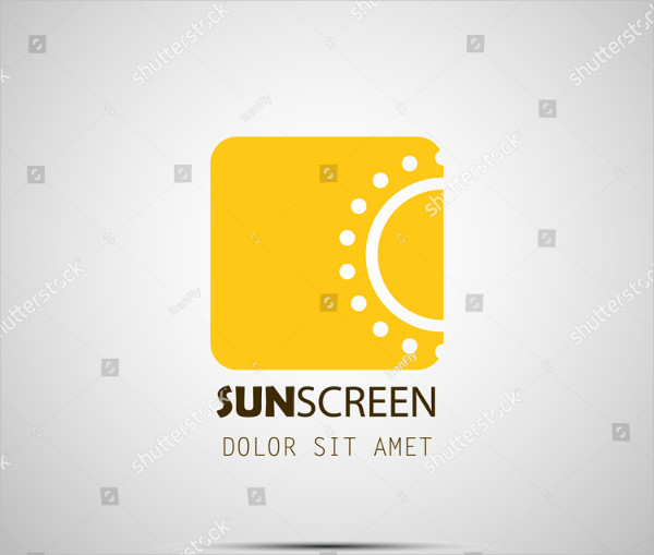 Sunscreen Cosmetic Logo Design