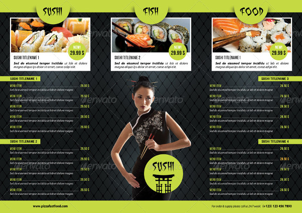 Sushi Restaurant Menu Bundle