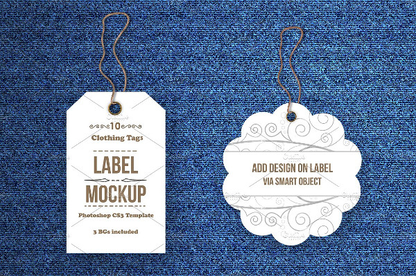 Tags or Labels Mockup Bundle