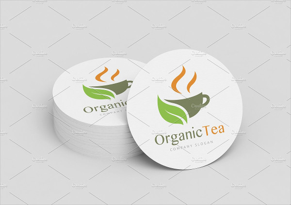 Tea Leaf Logo Template