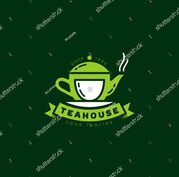 Teahouse logo template design