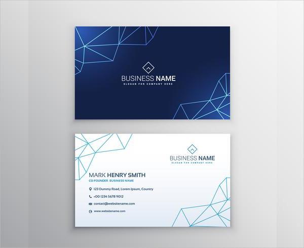 Technology Business Card Design Template Free