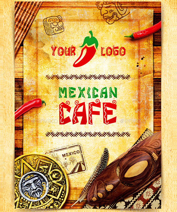 Typical Mexican Restaurant Menu Template