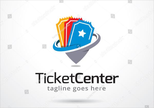Ticket Center Logo Template Design Vector