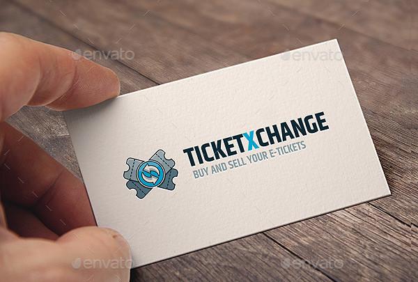 Tickets Exchange Logo Template