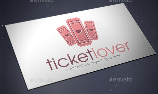 Printable Ticket Lover Logo Template