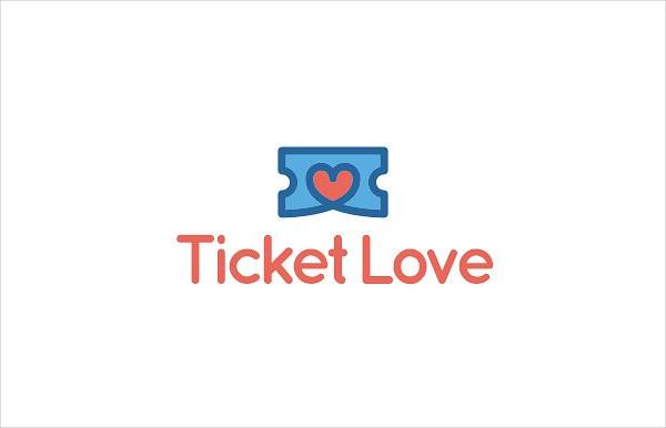 Best Ticket Love Logo Design