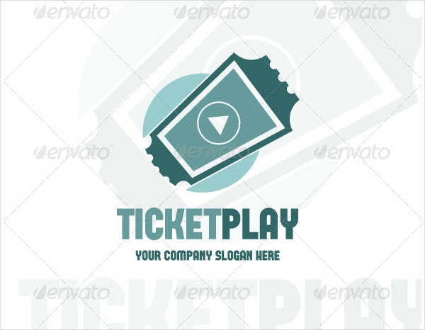 Ticket Play Logo Template