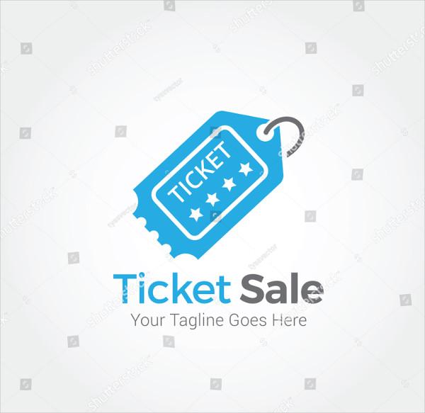 Ticket Sale Logo Template Design