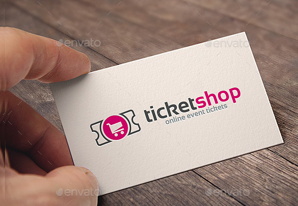 Professional Ticket Online Logo Template