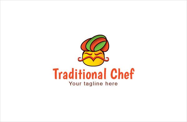 Traditional Chef Hat Logo Design