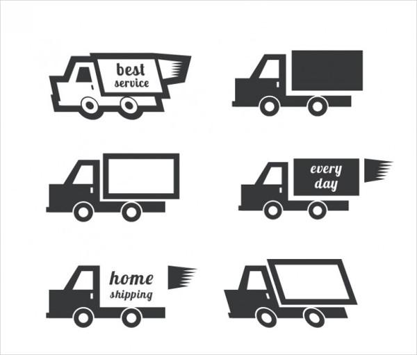 Truck Shipping logo Free Vector