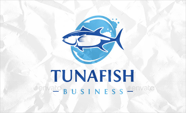 Tuna Fish Business Logo Template