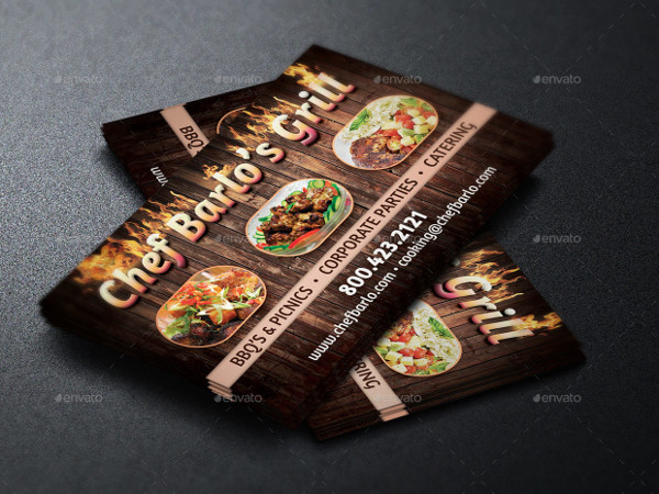 Unique Catering Business Card Template