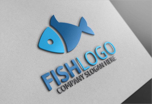 Unique Fish Store Logo Design