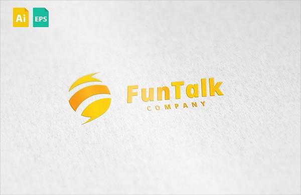 Unique Fun Talk Logo Design