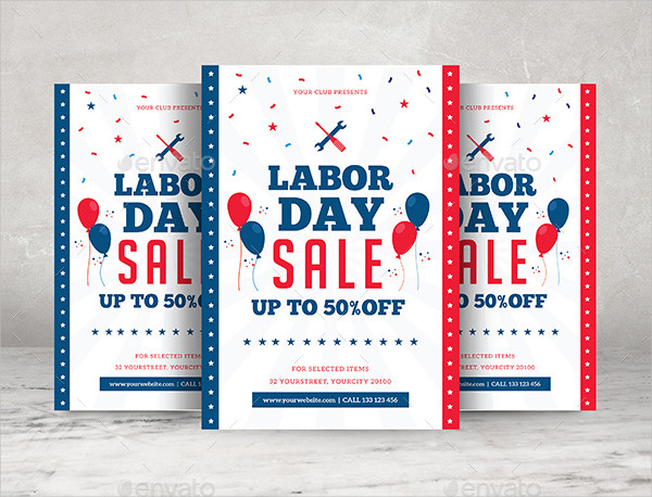 Unique Labor Day Sale Flyer