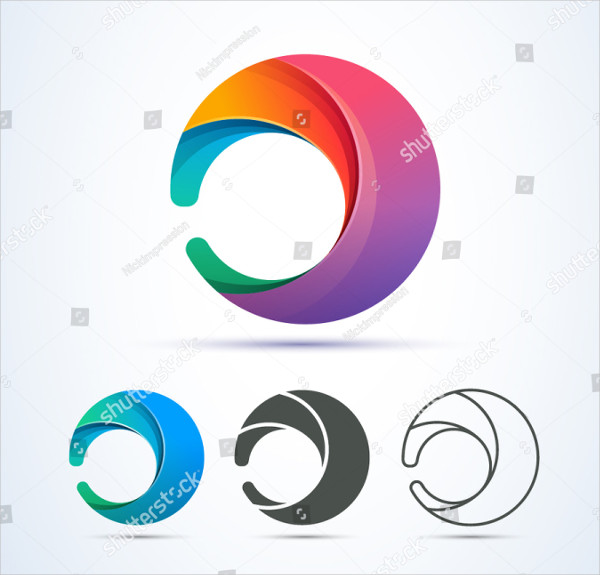 Vector Circle Swirl Logo Design