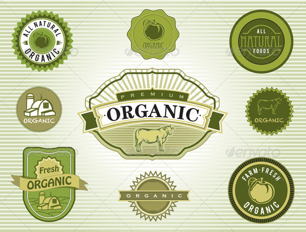 Food Product Label Templates Vector