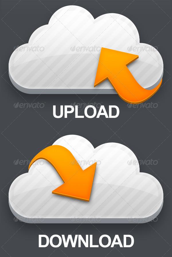 Vector Shape Cloud Icons