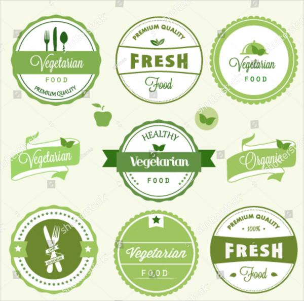 vegetarian sample food labels