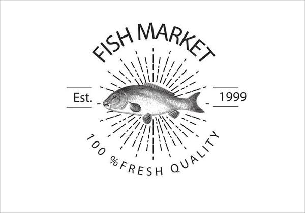Vintage Fish Market Logo Template