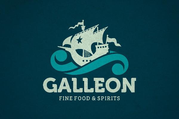 Vintage Galleon Logo Template
