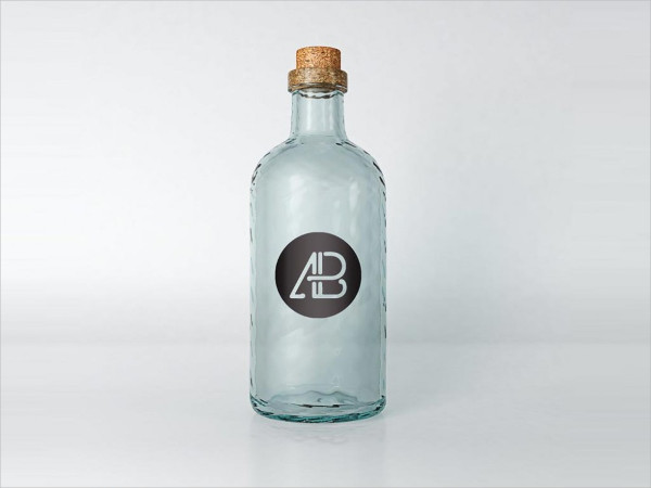Vintage Glass Mockup Free Download