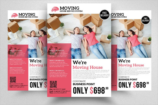 Moving House Service System Flyer Template