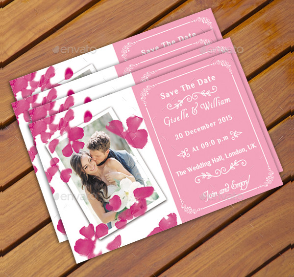 Wedding Announcement Postcard Template