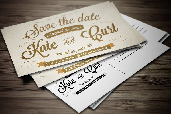 Wedding Save the Dates Postcard