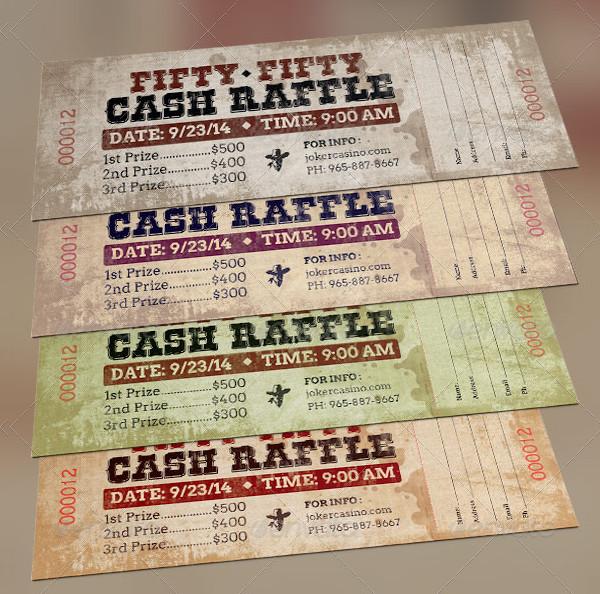 Western Style Raffle Ticket Template