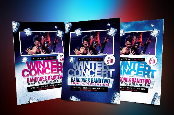 Winter Music Concert Event Flyer Template