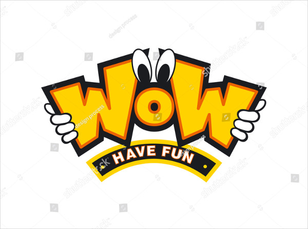 Wow Cartoon Logo Design