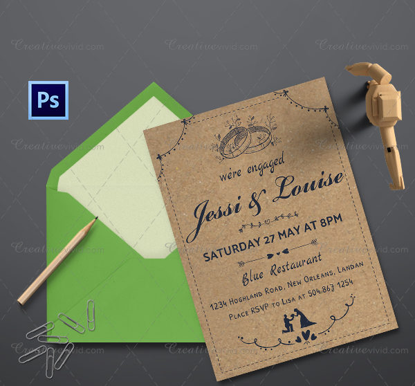 Engagement Party Online Invitation Template