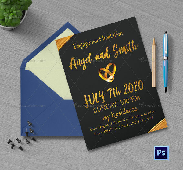 Engagement Invitation Vectors, Photos and PSD Files