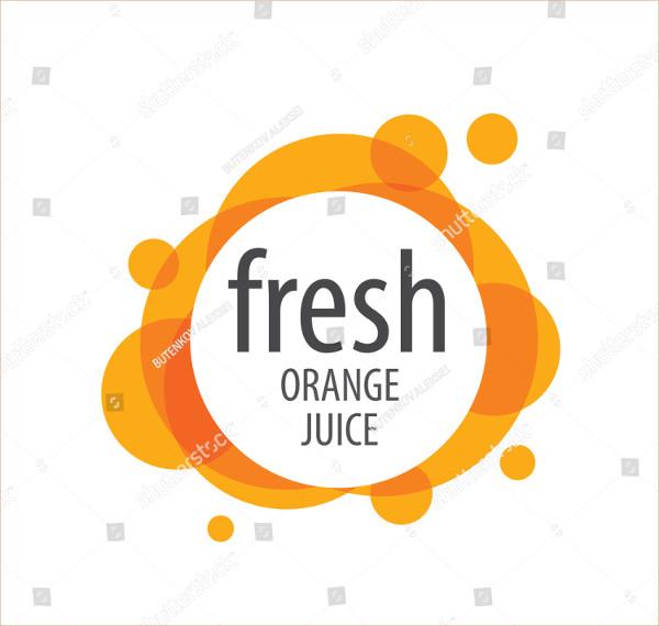 Fresh Orange Juice Logo Design